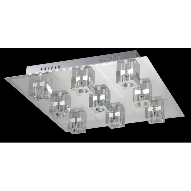 Orren Ellis Bowden 9-Light Flush Mount