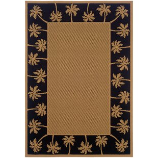 Goldenrod Beige Black Indoor Outdoor Area Rug