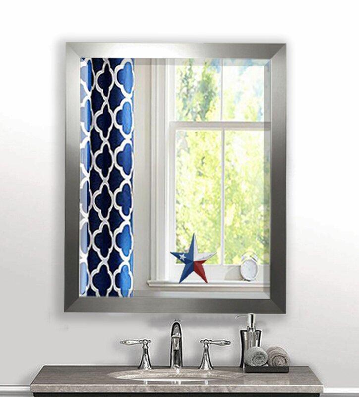 Beveled Wall Mirror wade logan rectangle aluminum beveled wall mirror & reviews | wayfair