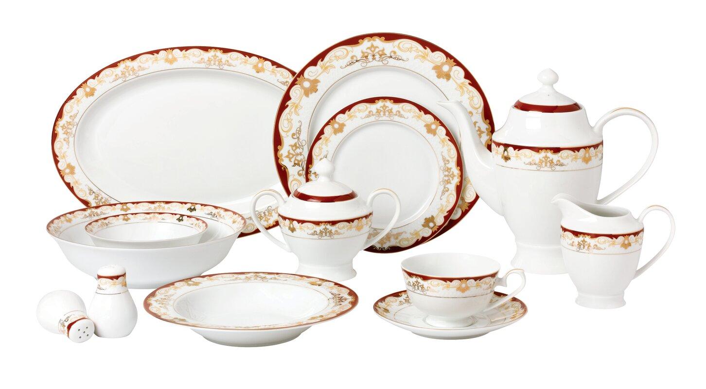 Lorren Home Trends La Luna Bone China 57 Piece Dinnerware