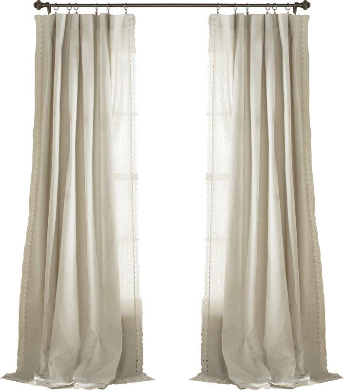Kortney Solid Semi Sheer Pinch Pleat Curtain Panels