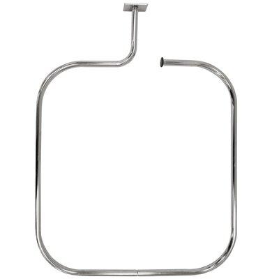 dCor design 69cm Rectangular Fixed Shower Curtain Rail & Ring Set ...