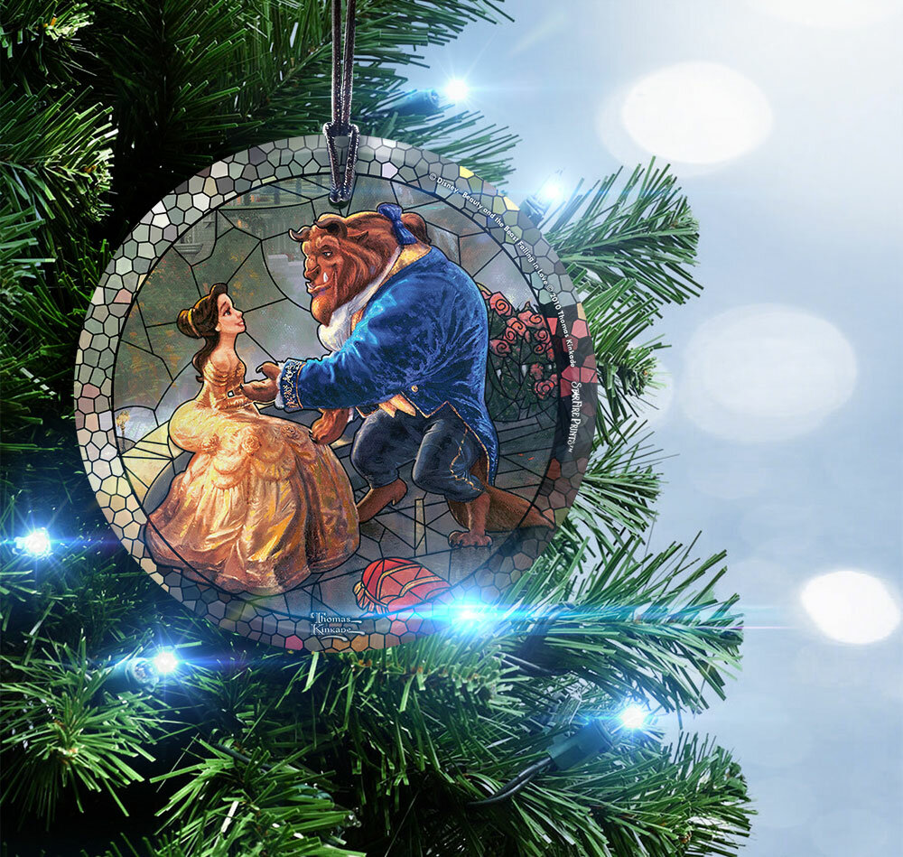 trend setters disney beauty and the beast hanging shaped ornament reviews wayfair