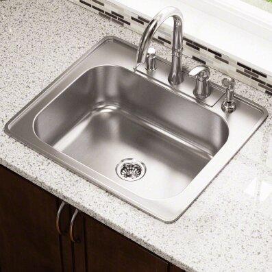 25   x 22   single bowl drop in stainless steel kitchen sink polaris sinks 25   x 22   single bowl drop in stainless steel      rh   wayfair com