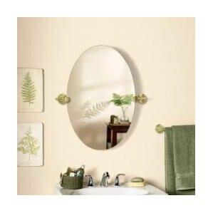Murrayville Edge Oval Swivel Bathroom Vanity Wall Mirror