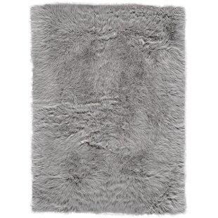 Linden Faux Fur Gray Area Rug
