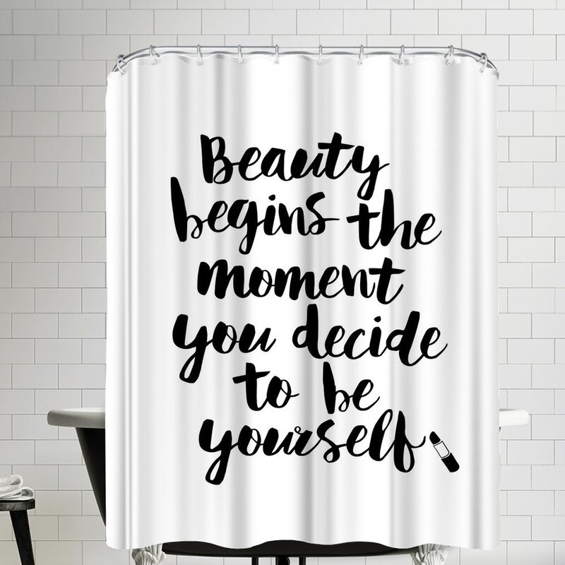 Beauty Begins The Moment You Decide To Be Yourself Script Shower Curtain