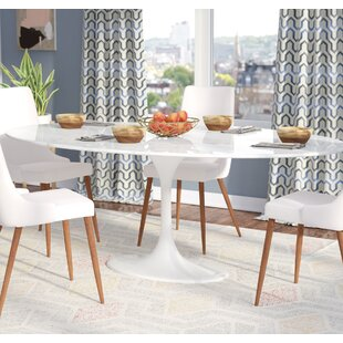 Attrayant Larkson White Oval Marble Dining Table