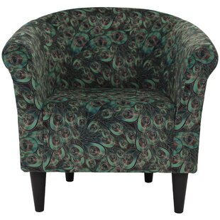 Ronda Contemporary Animal Print Barrel Chair