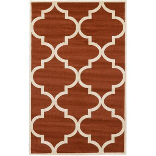 Affordable Price Moore Rust Red Area Rug By Charlton Home