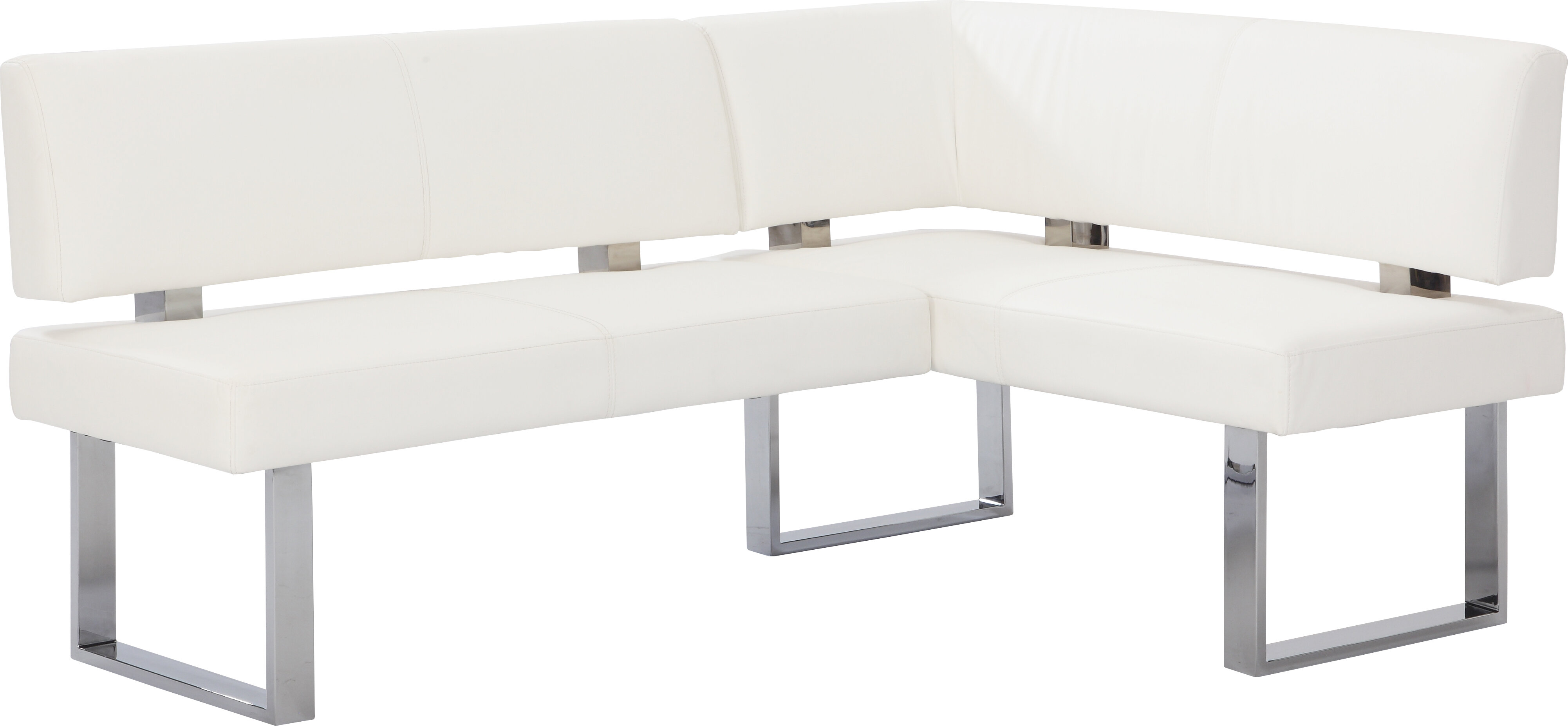 Broderick Upholstered Faux Leather Corner Bench
