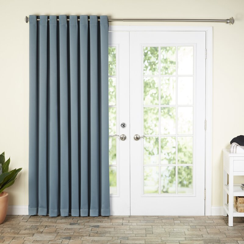 Wayfair Basics Solid Blackout Grommet Extra Wide Patio Door Curtain Panel