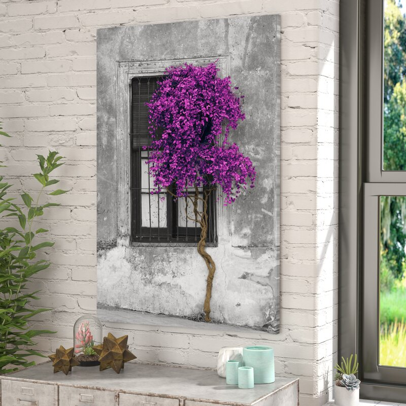 East Urban Home Tree In Front Of Window Graphic Art
