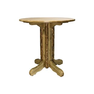 Tustin Center Pedestal Solid Wood Dining Table