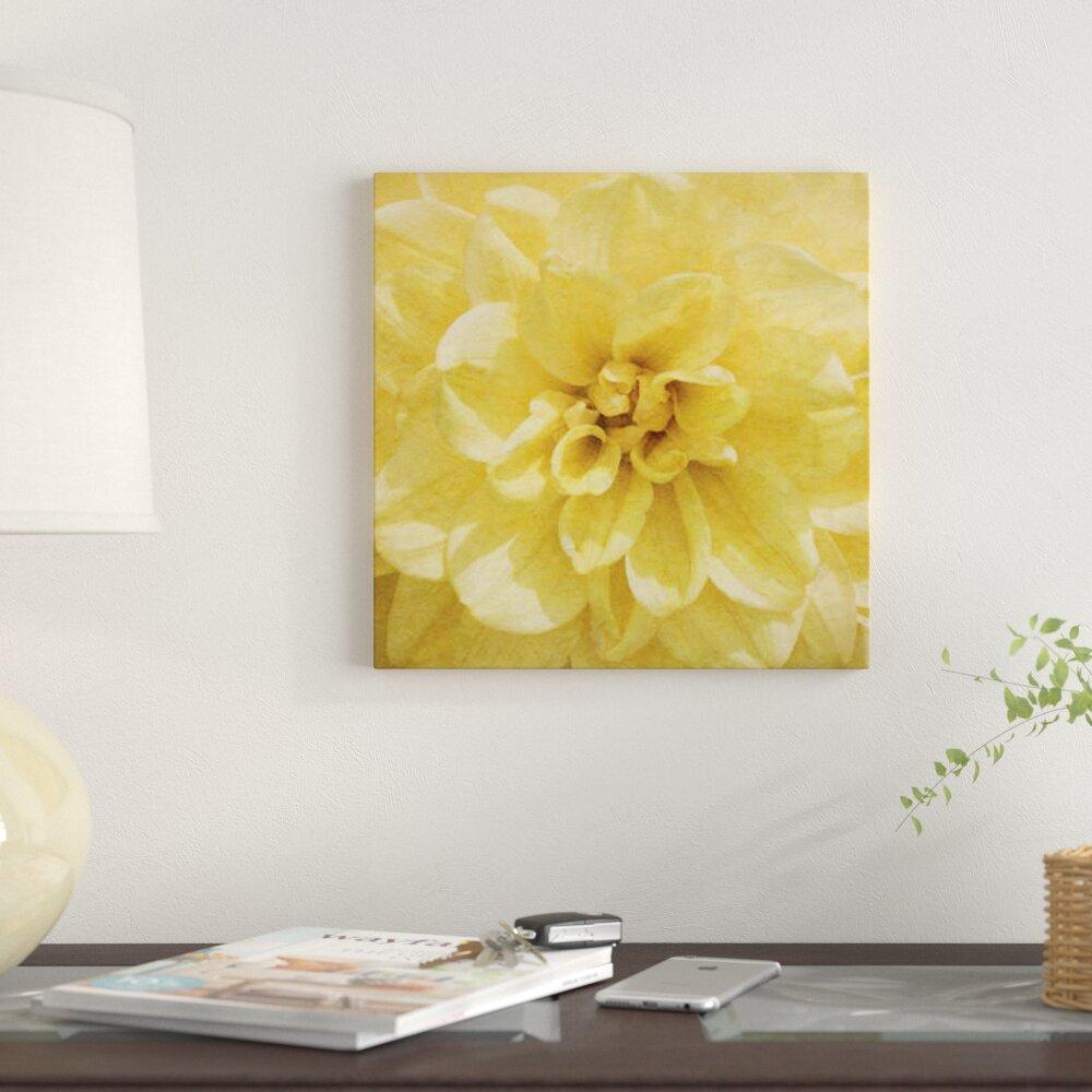 East Urban Home \'Wall Flower II\' Photographic Print on Canvas | Wayfair