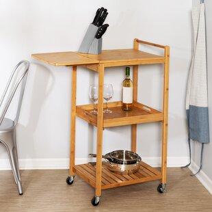 Enrique 38 Bamboo Kitchen Cart