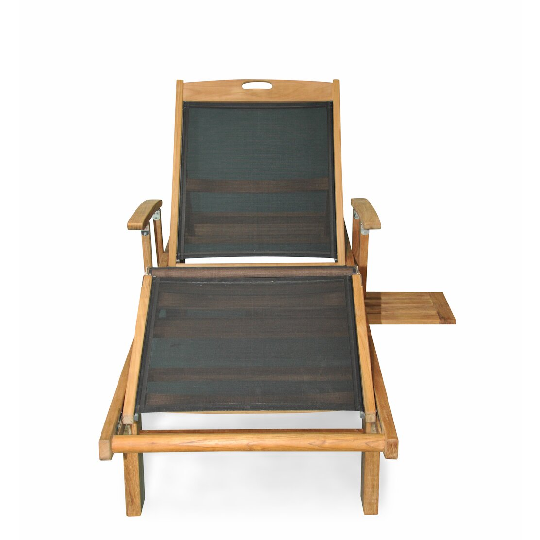 Regal Teak Sling Arm Chaise Lounge & Reviews