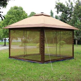 Fully Enclosed Canopy 12 Ft. W x 12 Ft. D Aluminum Pop-Up Gazebo & Enclosed Gazebos Youu0027ll Love | Wayfair