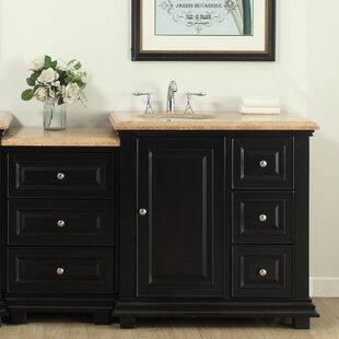 Heanor 56 Single Bathroom Modular Vanity Set With Sink On Left Side