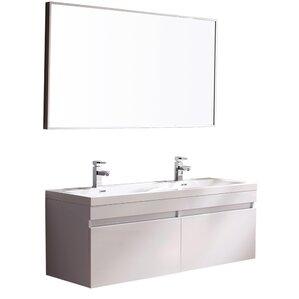 double bathroom sink.  Modern Double Bathroom Vanities AllModern