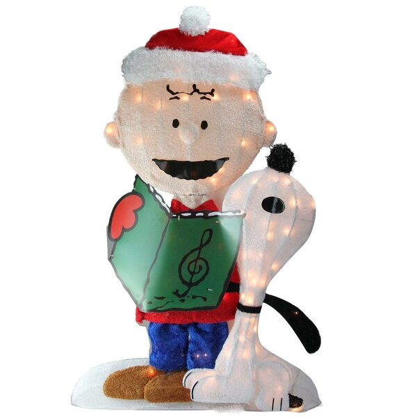 Northlight Pre-Lit Peanuts Charlie and Snoopy 2D Christmas Yard Art Decoration Lighted Display | Wayfair