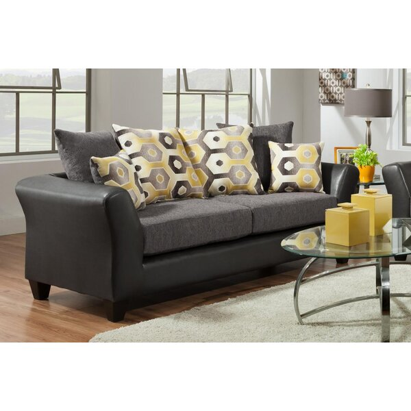 Beau Adrian Graphite Sofa | Wayfair