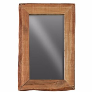 gassin rectangular wood wall leaner live edge full length mirror - Wood Frame Full Length Mirror