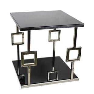Chrome Glass Accent Table Wayfair
