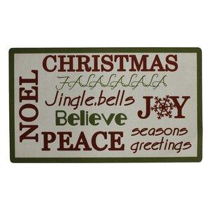 Christmas Trimmed Doormat
