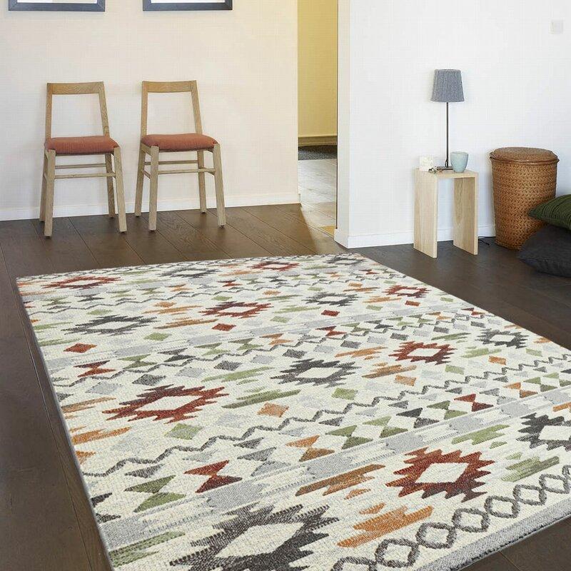 world menagerie teppich florence white paper in rot blau beige bewertungen. Black Bedroom Furniture Sets. Home Design Ideas