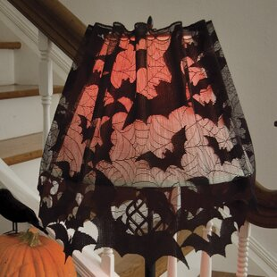 Indoor halloween decorations youll love wayfair going batty 60 polyester empire lamp shade aloadofball Images