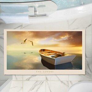 Carlos Casamayor's The Lovers Birds and Boats Memory Foam Bath Rug
