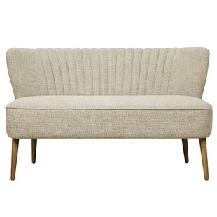 Captivating McHenry Mid Century Vertically Channeled Settee