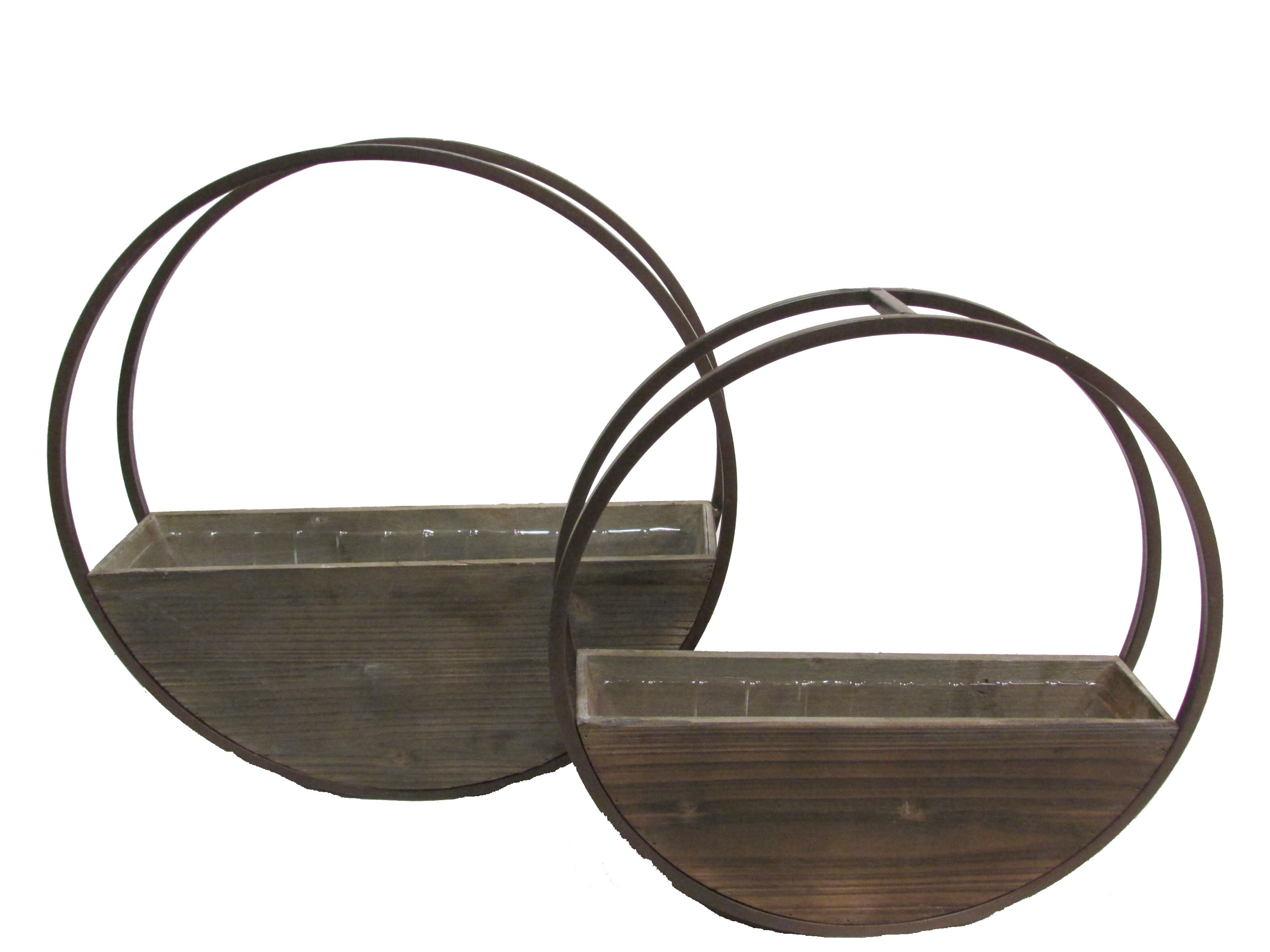 Union Rustic Aarush Round And Metal Framing Wall Hanging 2 Piece