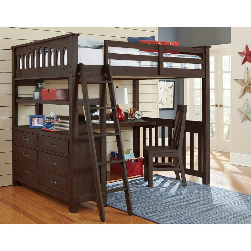 Grovelane Teen Stella Full Loft Bed With Desk Reviews Wayfair