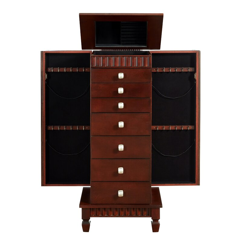 Dillon Jewelry Armoire With Mirror