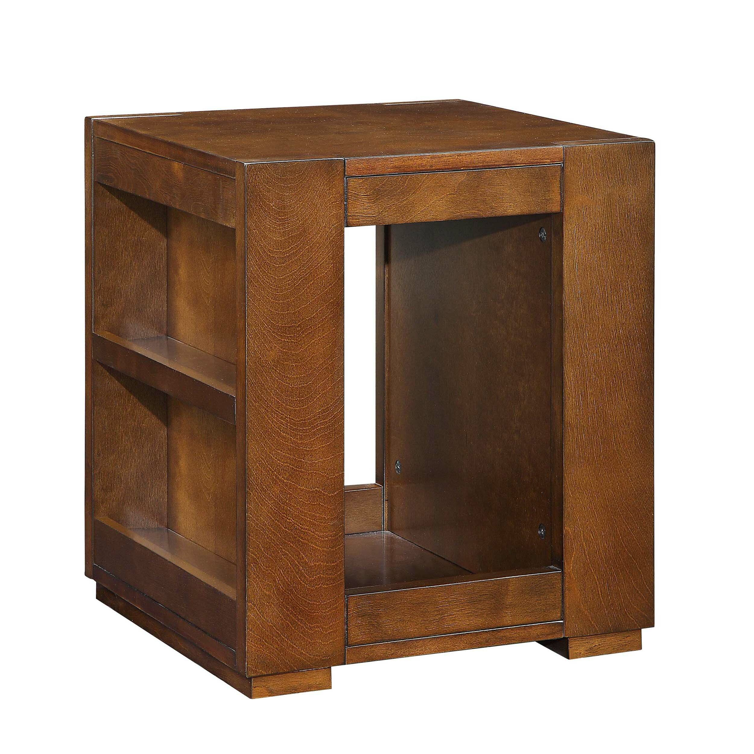 Millwood Pines Tarrytown Side Storage Bookshelf Wooden End Table With
