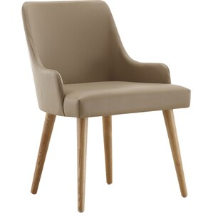 Park Slope Genuine Leather Upholstered Di..