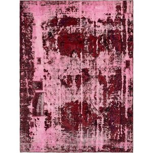 Sela Traditional Vintage Persian Hand Woven 100% Wool Pink Area Rug