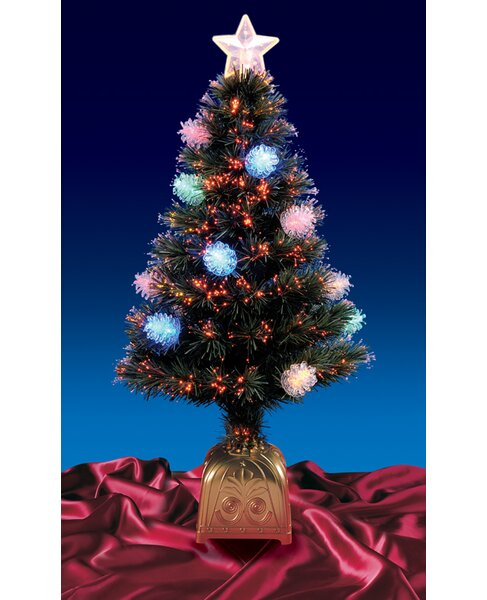 Northlight 4' Pine Cone Artificial Christmas Tree with LED Multi ...