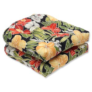 Clemens Noir Indoor/Outdoor Dining Chair Cushion (Set of 2)