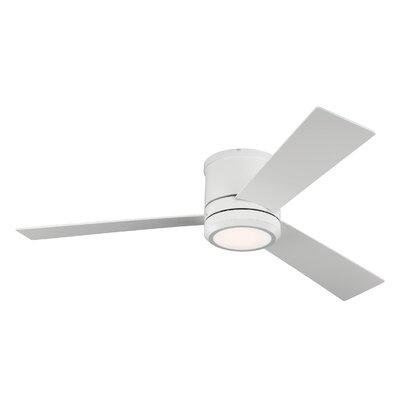 Brayden Studio 56 Lampsacus 3 Blade LED Ceiling Fan Finish: Rubberized White