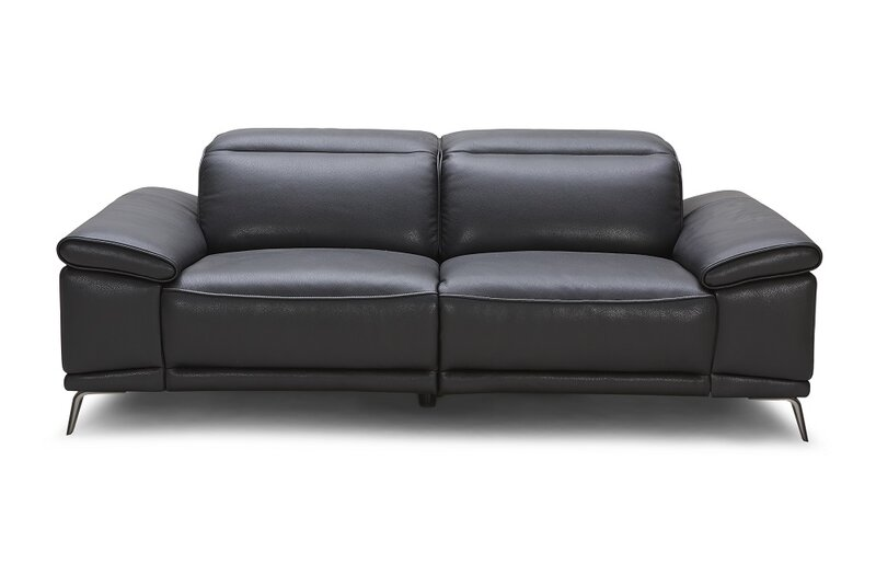 Wade Logan Carnegie Leather Reclining Sofa & Reviews   Wayfair