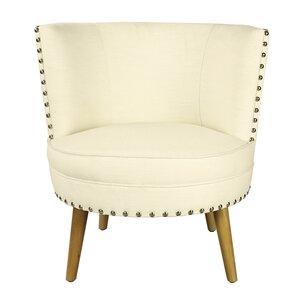 Pheasant Hill Linen Leisure Barrel Chair by ..