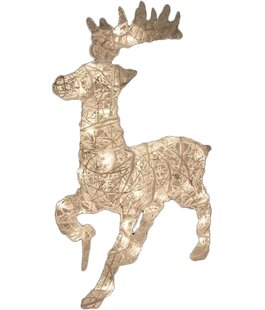rattan trumpeting reindeer christmas decoration