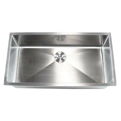 """Undermount Kitchen Single Sink emodern decor ariel 36"""" x 19"""" single bowl undermount kitchen sink"""