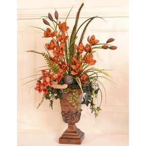 Cymbidium Orchids In Urn Cymbidium Orchids In Urn By Floral Home Decor