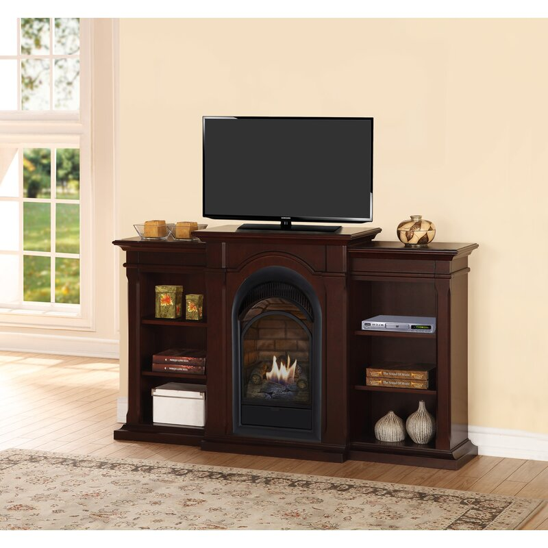 Duluth Forge Tv Stand For Tvs Up To 39 With Natural Gas Fireplace