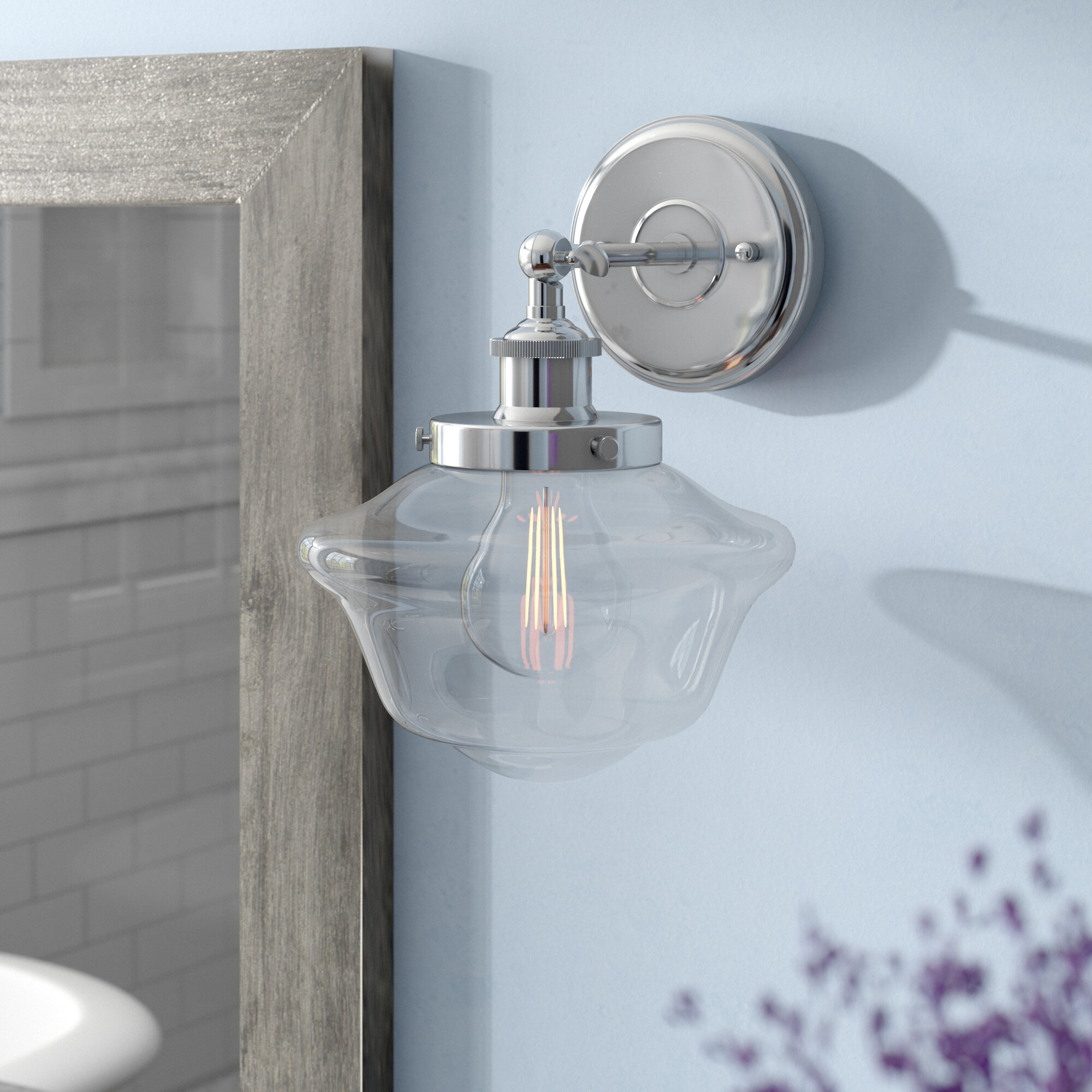 Laurel Foundry Modern Farmhouse Hildred 1-Light LED Bath Sconce ...