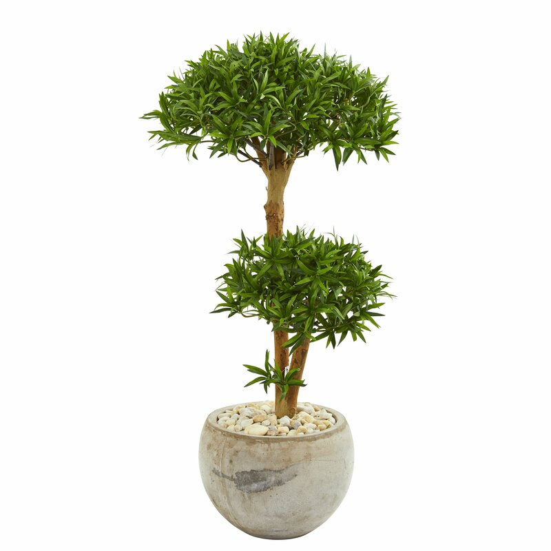 Country Style Indoor Pot Culture Artificial Tree Basket Miniature Fake Flower Bonsai Tree Plants For Home Office Wall Decoration Up-To-Date Styling Home & Garden Artificial & Dried Flowers